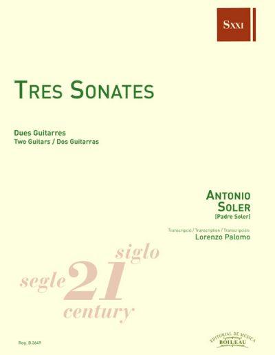 FotoPartitura Tres Sonatas de Padre Antonio Soler